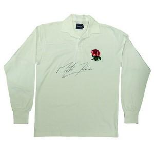 England Rugby Shirt Signed by Martin Johnson