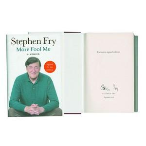 Stephen Fry Signed Book 'More Fool Me' A Memoir
