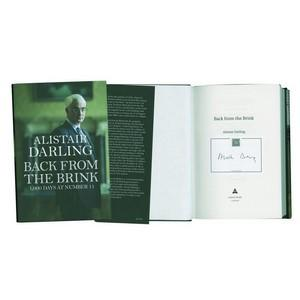 Alistair Darling 'Back from  the Brink' Signed Book