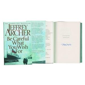Jeffrey Archer 'Be Careful What You Wish For' Signed by Author