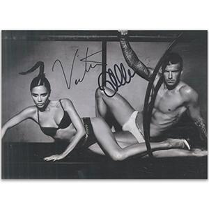 David & Victoria Beckham Autograph Signed Photograph