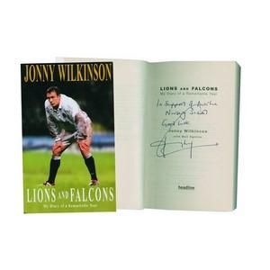 Jonny Wilkinson Signed Book 'Lions and Falcons'