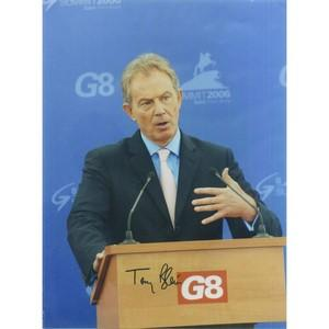 Tony Blair Autograph Signed Photograph