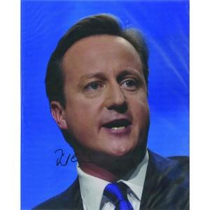 David Cameron Signed Photograph