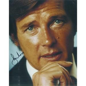 Roger Moore Autograph Signed Photograph
