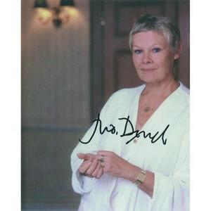 Judi Dench Autograph Signed Photograph