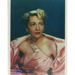 Joan Fontaine Autograph Signed Photograph