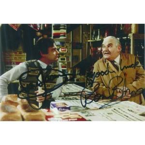 Ronnie Barker & David Jason Autograph Signed Photograph