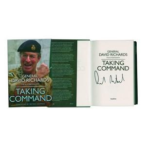 General David Richards Signed Book