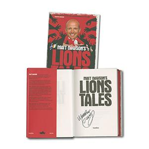 Matt Dawson ' Lions Tails' Signed Book