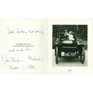 Prince & Princess Michael of Kent Autograph Signed Card