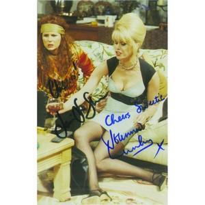 Jennifer Saunders & Joanna Lumley Autograph Signed Photograph