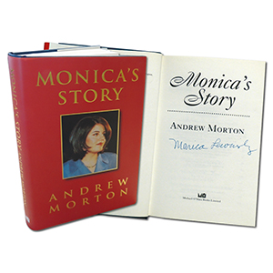 Monica Lewinsky ' Monica's Story' Signed Book