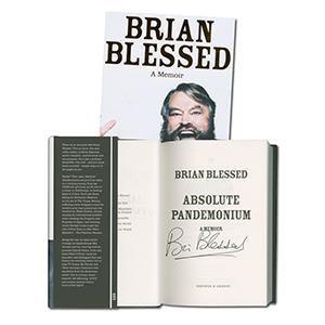 Brian Blessed Autograph Signed Book