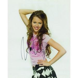 Miley Cyrus Autograph Signed Photograph