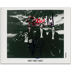 Wet Wet Wet Autograph Signed Photograph