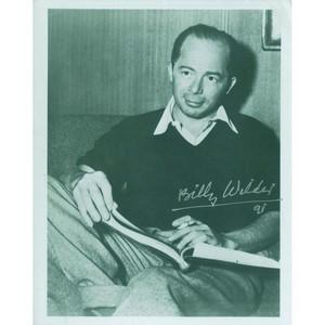 Billy Wilder Autograph Signed Photograph