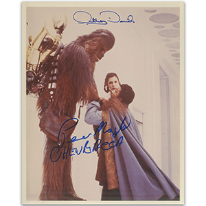 Star Wars - Anthony Daniels and Peter Mayhew (Chewbacca)  - Autographs