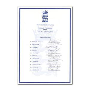 England Cricket (11 Including Hussain, Flintoff & Vaughan)