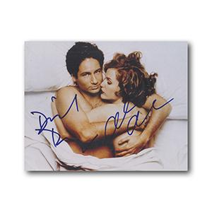 Gillian Anderson & David Duchovny Signed Photograph