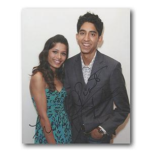 Freida Pinto & Dev Patel Autograph Signed Photograph
