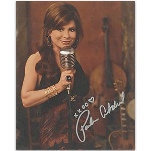 Paula Abdul Autograph Signed Photograph