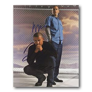 Prison Break (Miller and Purcell)  Autograph Signed Photograph
