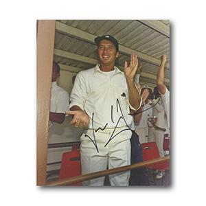 Nasser Hussain Autograph Signed Photograph