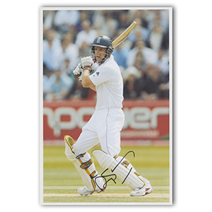 Andrew Strauss Autograph Signed Photograph