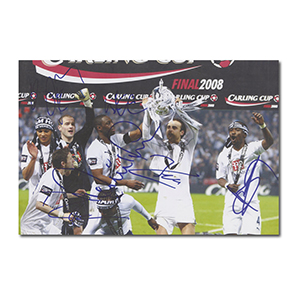Tottenham Hotspur FC 2008 Carling Cup Final Win - Signed Photograph