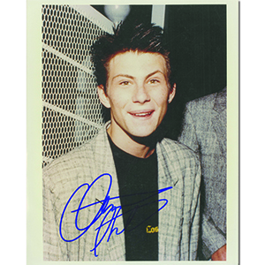 Christian Slater Autograph Signed Photograph