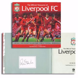 Robbie Fowler Signed Book The Official Treasures of Liverpool FC