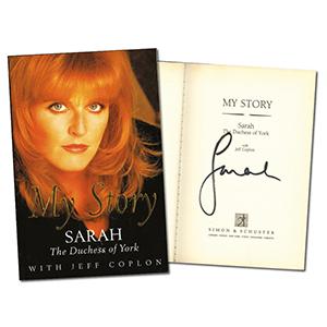 Sarah Ferguson Signed Book