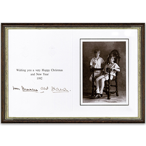 Prince Charles & Princess Diana Signatures  (Framed)