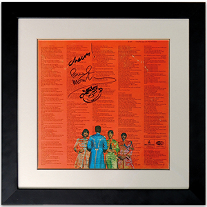 Paul McCartney signed LP (framed)