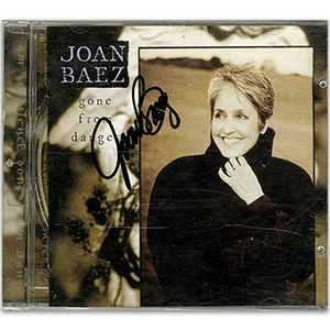 Joan Baez Signed CD Cover
