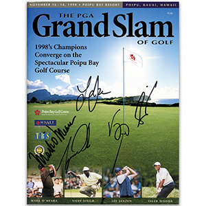 Tiger Woods, Mark O'Meara, Lee Janzen & Vijay Singh Autographs