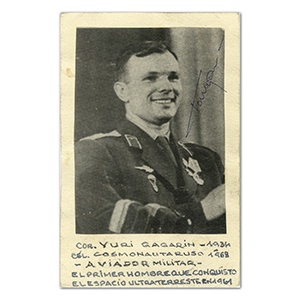 Yuri Gagarin Autograph