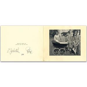 Queen Elizabeth II & Prince Philip (1965 card)