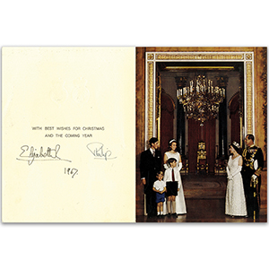 Queen Elizabeth II & Prince Philip (1967 card)