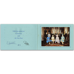 Queen Elizabeth II & Prince Philip Signed Christmas Card (1980)