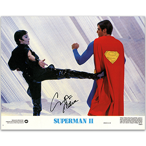 Christopher Reeve Signed Autographed 12 x11 Photo - Certificate of Authenticity (COA)