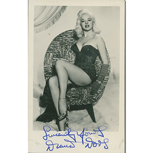Diana Dors  Signed Photograph