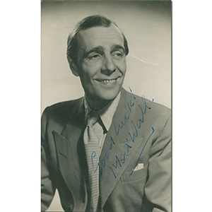 Max Wall Signed Photograph
