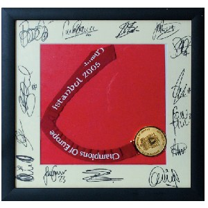 Liverpool FC Signed  Champions of Europe 2005 Signatures