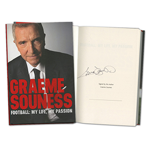Graeme Souness Signed Book