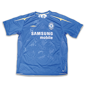 2005 Chelsea Centennary Multi Signed Shirt