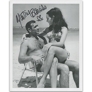 Martine Beswick - Actress James Bond  Autograph Signed Photograph