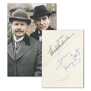 Jeremy Brett & Edward Hardwicke Autographs - Sherlock Holmes