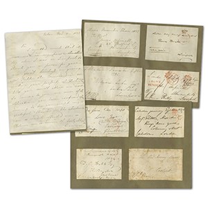 Signed Letter Fronts Collection